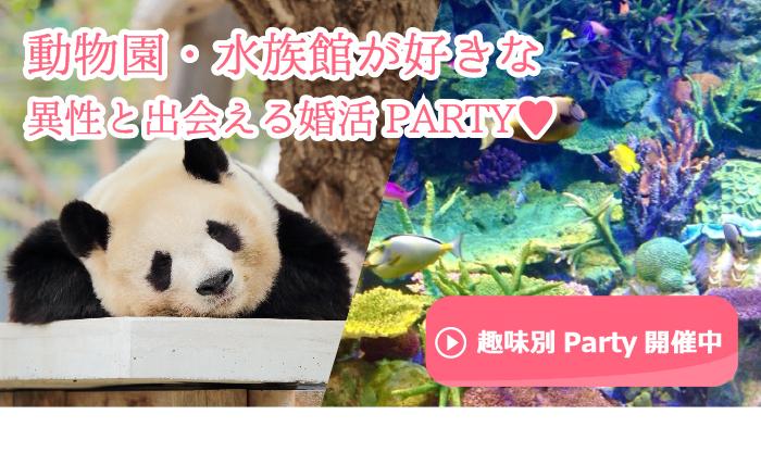動物園・水族館好きな異性と出会える婚活・お見合いパーティーのご案内です。