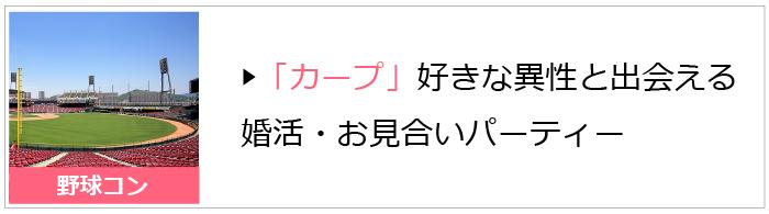 広島東洋カープファンが集まる野球コン