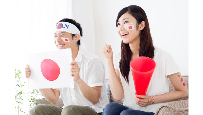 恋人と観戦するサッカー日本代表戦は最高に刺激的!