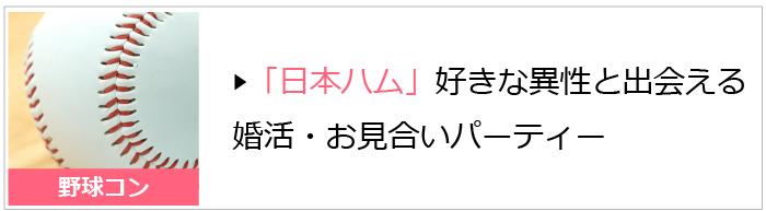 日本ハムファイターズファンが集まる野球コン