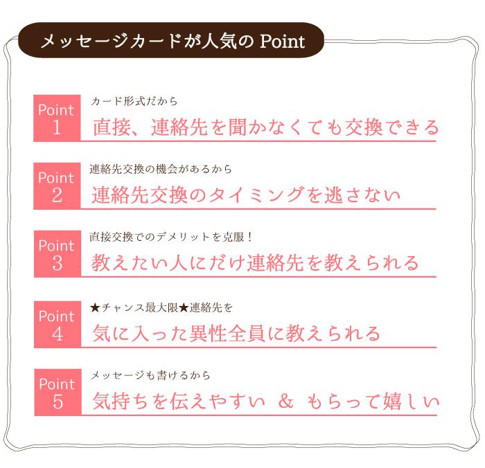 メッセージカードの嬉しい5つのポイント